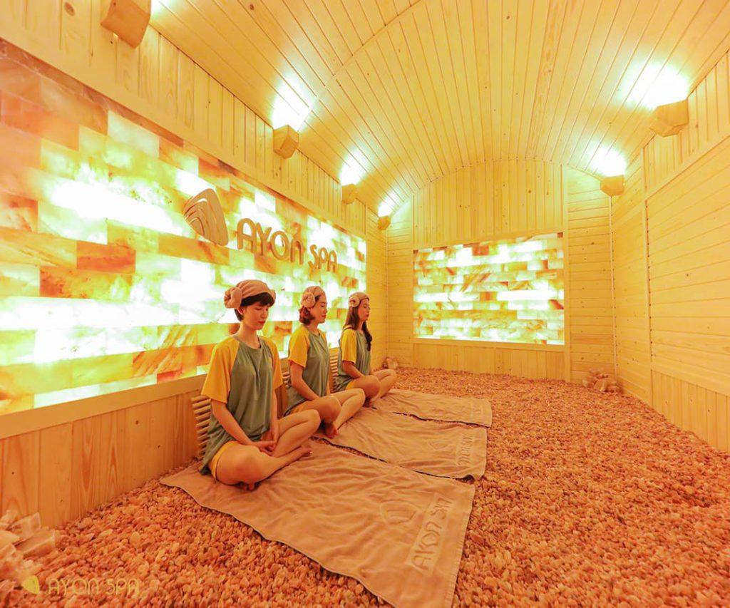 Phòng xông đá muối - Dự án Ayon Spa do Kovitech thiết kế, thi công