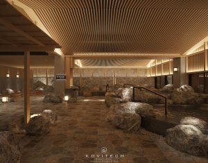 Hệ thống bể onsen