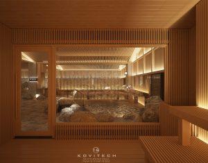 Khu vực bể onsen
