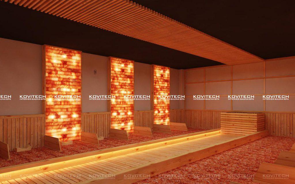 Phòng xông đá muối hồng ngoại ion âm